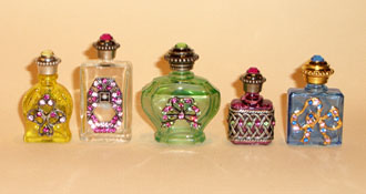 Perfume bottles with strass